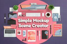 Simple Mockup Scene Creator by Aedon Design on @creativemarket