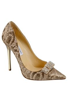 Jimmy Choo-Snakeskin and Rhinestones Stilettos Pretty Shoes, Beautiful Shoes, Cute Shoes, Women's Shoes, Me Too Shoes, Shoe Boots, Prom Shoes, Dress Shoes, Stilettos