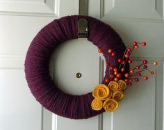 Autumn Yarn Wreath by nlag2010, via Flickr