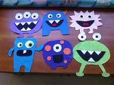 Felt Monsters - love this as a DIY Felt Board Set!!