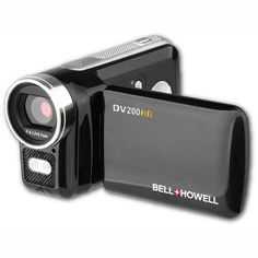 The DV200HD is an ultra-compact high definition digital camcorder that records in 1280x720p video resolution. Its 4x digital zoom helps you get close to the action, and the captured memories are viewable on the flip-out 2'' LCD color screen display.