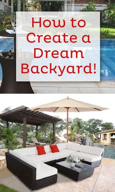 How to Create a Dream Patio for a little bit of vacation right in your own backyard!