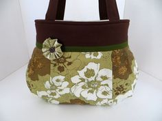 Etchings in Green Pleated Bag  Olive Green and by atouchofstardust, $54.00