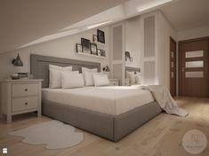 Widok na łóżko oraz szafę - zdjęcie od NeViStudio - Sypialnia - Styl Skandynawski - NeViStudio