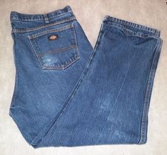 Dickies Relaxed Fit Medium Wash Work Jeans Men's 44W x 30L #Dickies #Relaxed
