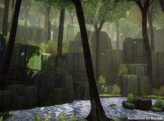 ArtStation - Fantasy Forest Scene, Daniel Cook
