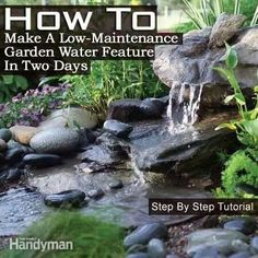 Low maintance water feature