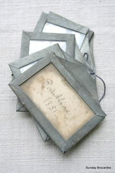 Antique Zinc Wine Cellar Tags