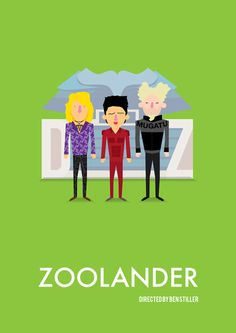 'Zoolander' tribute poster by Olaf Cuadras on The Bazaar. Buy creative products by Olaf Cuadras online! Olaf, Minimal Movie Posters, Minimal Poster, Go To Movies, Great Movies, Funny Movies, Pulp Fiction, Apocalypse, Poster Minimalista