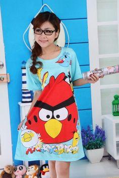 Women's Summer Anger Bird Printed Cartoon Sleepwear on BuyTrends.com, only price $5.93