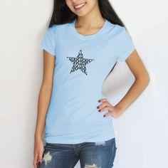 LUCKY STAR (Black) - Lucky Gambler® Women's T-Shirt