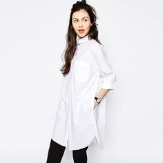 2017 Bf Style White Blouse Ladies Wear Work Button Front Shirt Long Sleeve Tops