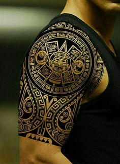 Maori tattoo idea for half sleeve for men new trend 2019 Tattoo Designs Maori tattoo … Aztec Tattoo Designs, Tribal Shoulder Tattoos, Polynesian Tattoo Designs, Tribal Tattoos For Men, Tribal Sleeve Tattoos, Trendy Tattoos, Tattoos For Guys, Tattoo On Shoulder, Polynesian Tribal
