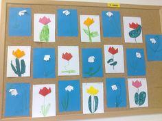 skládání papíru (tulipán, sněženka)