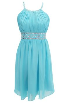Sexy A-line Halter Knee Length Chiffon Prom/Homecoming Dress with Beads