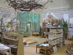 let the children play: beautiful learning spaces in reggio emilia inspired preschools Documentation of children's work and collections that children have made are displayed both at the children's. Reggio Emilia Classroom, Reggio Inspired Classrooms, New Classroom, Classroom Setting, Classroom Setup, Classroom Design, Preschool Rooms, Preschool Classroom, Kindergarten Classroom Layout