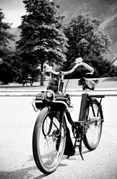 .de solex, bicycle, motorized, bike, wheels, cool, transportation, photography, photo b/w.