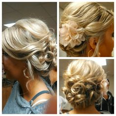 Braids maid loose and romanic updo