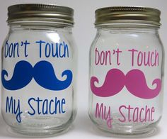 I think I could make this myself!    Mustache Piggy Bank Savings Jar My Stache by ThePoshShoppe on Etsy, $9.00