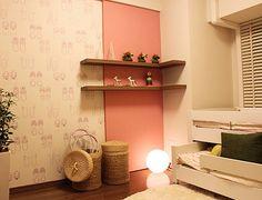 K134 姉妹仲良く 収納できる2段ベッドで、ソファ 代わりにも使えます。 仲の良い姉妹にはこんなお部屋はいかが?
