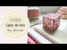 Tutorial Cajitas de tela muy fáciles - YouTube Kallax, Couture, Quilts, Sewing, Simple, Scrapbooking, Tutorials, Ideas, Short Bob Hair