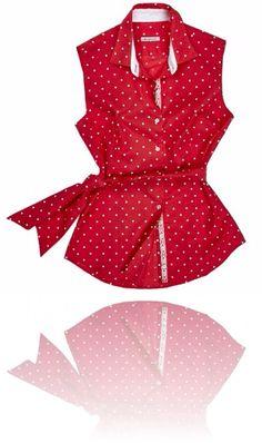 Camicia giromanica rossa a pois bianchi. Seguici su #RedisRappresentanze www.redisrappresentanze.it