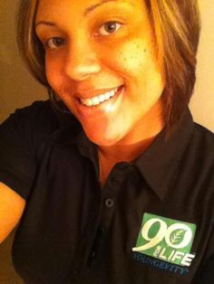Proudly showing off her Youngevity side!    #90forLife #TiffanyWilkins