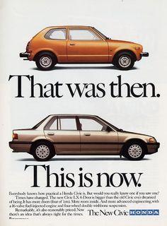 1988 Honda Civic Ad  #Honda #HondaCivic #HondaCars