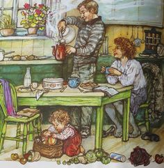 'Alfie's Feet' by Shirley Hughes my kids used to love the Alfie and Annie Rose Books.