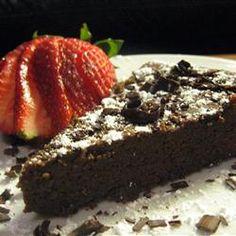 Garbanzo Bean Chocolate Cake MyNaturalFamily.com #glutenfree #garbanzobeans #recipe
