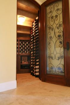 New home decor on pinterest wine cellar fireplaces and Turn closet into wine cellar