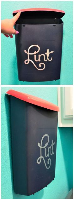 #DIY Wall Mounted Lint Catcher // #laundryroom #organize