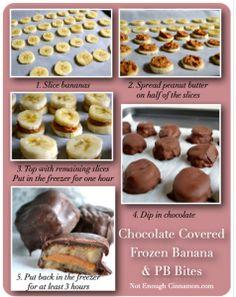 Frozen chocolate banana peanut butter bites | TheWHOot