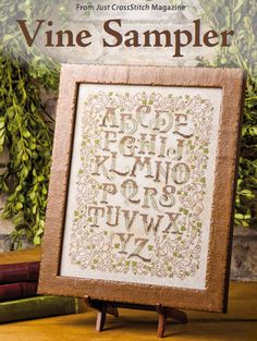 Vine Sampler from the Mar/Apr 2015 issue of Just CrossStitch Magazine. Order a digital copy here: https://www.anniescatalog.com/detail.html?code=AM53358