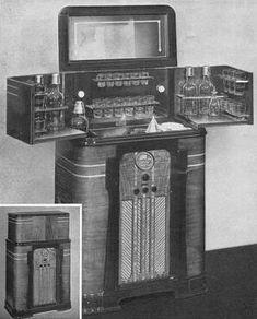 1937 Philco Radio Bar