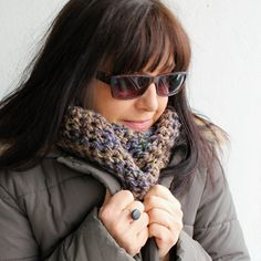 """Nákrčník unisex """" Zemitý """" v odstínech hnědé v kombinaci s ocelově modrou - pro ženy nebo jejich silnější polovičky - snad se podělíte ;) http://www.fler.cz/zbozi/nakrcnik-unisex-zemity-7030920"""