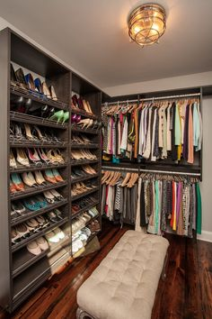 53 Elegant Closet Design Ideas For Your Home. Unique closet design ideas will definitely help you utilize your closet space appropriately. An ideal closet design is probably the only avenue . Closet Built Ins, Closet Shelves, Closet Storage, Walk In Closet Design, Closet Designs, Organiser Son Dressing, Best Closet Organization, Organization Ideas, Storage Ideas