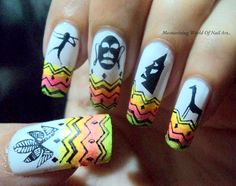 Chhattisgarh tribal nail art
