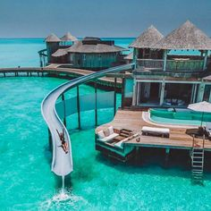 Travel Destinations Overwater Bungalow in Maldives. 20 Amazing Hotels In Striking Locations You Must Maldives Voyage, Maldives Travel, Maldives Resort, Visit Maldives, Maldives Beach, Maldives Honeymoon, Vacation Places, Dream Vacations, Vacation Spots
