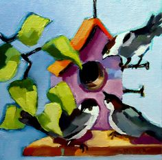 """""""Knock Three Times"""" http://www.dailypaintworks.com/buy/auction/641299"""