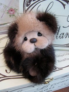 Artist Teddy Bear PDF Pattern Tim Tam 4 recycled mink by Barecubs, $15.00