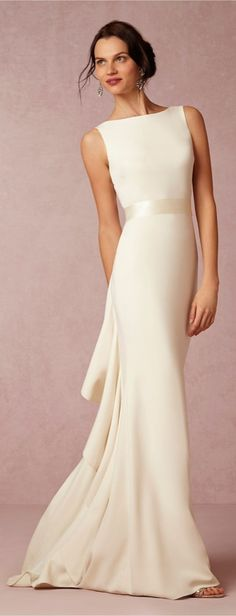 The best wedding dress for your zodiac sign – Scorpio: Your Style: Sleek and streamlined — you have a signature style, and you wear it well. While you gravitate toward classic silhouettes, you play up your look by switching textures and materials. Your Dress: A subtle trumpet dress is classic but has an unexpectedly sexy feel. A simple neckline and clean silhouette mean you'll still stay true to your style on the big day: BHLDN Valentina Gown ($1,000).