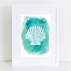 Watercolor Seashell, Seashell Art, Seashell Print, Sea ...