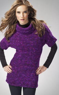 Chunky knit tunic pattern in Finnish