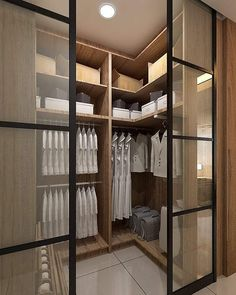 A walk-in closet can be quite a luxury in one's home. Here are a few walk-in wardrobe designs for your inspiration! Walk In Wardrobe Design, Glass Wardrobe, Wardrobe Room, Wardrobe Design Bedroom, Wardrobe Closet, Built In Wardrobe, Modern Wardrobe, Wadrobe Design, Home Room Design