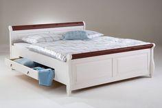 Bett Mit Schubladen 200x200 Weiss Kolonial Holzbett Kiefer Massiv Poarta Bett Mit Schubladen Bett Holz Bett Weiss 180x200