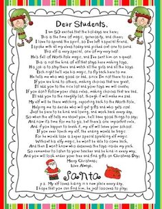 Elf on the Shelf Letters - First Day and Last Day