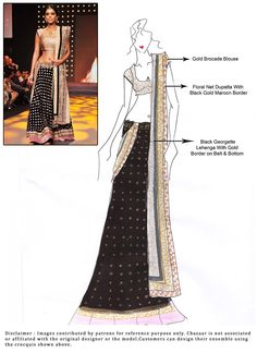 DIY Black Georgette Lehenga Choli