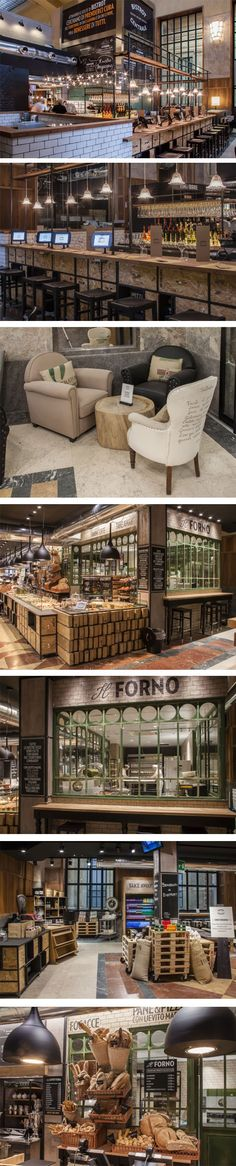 Exclusive restaurant and bar interior designs to inspire you Italy Restaurant, Design Bar Restaurant, Deco Restaurant, Bakery Design, Cafe Design, Store Design, Modern Restaurant, Kitchen Design, Western Restaurant