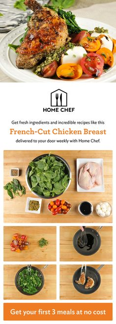 Get $30 off your first order when you try Home Chef today! Skip the grocery store and make amazing home-cooked meals with the help of Home Chef. World-class chefs do the shopping and hand-select the freshest ingredients so you can make delicious recipes like this French-cut Chicken Breast. Each meal is delivered straight to your door with easy-to-follow recipe instructions so you can feel like a five star chef every night of the week.